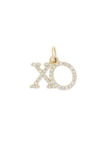Emily & Ashley - Yellow Gold Diamond XO Charm Pendant