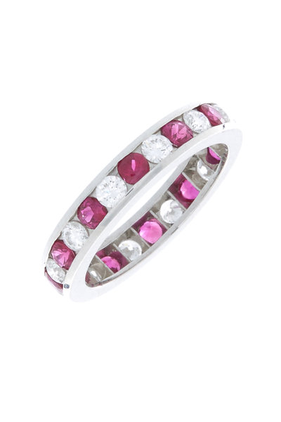 Oscar Heyman - Platinum Ruby & Diamond Guard Ring