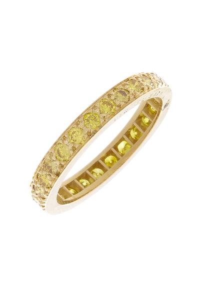 Oscar Heyman - Gold Fancy Yellow Diamond Guard Ring