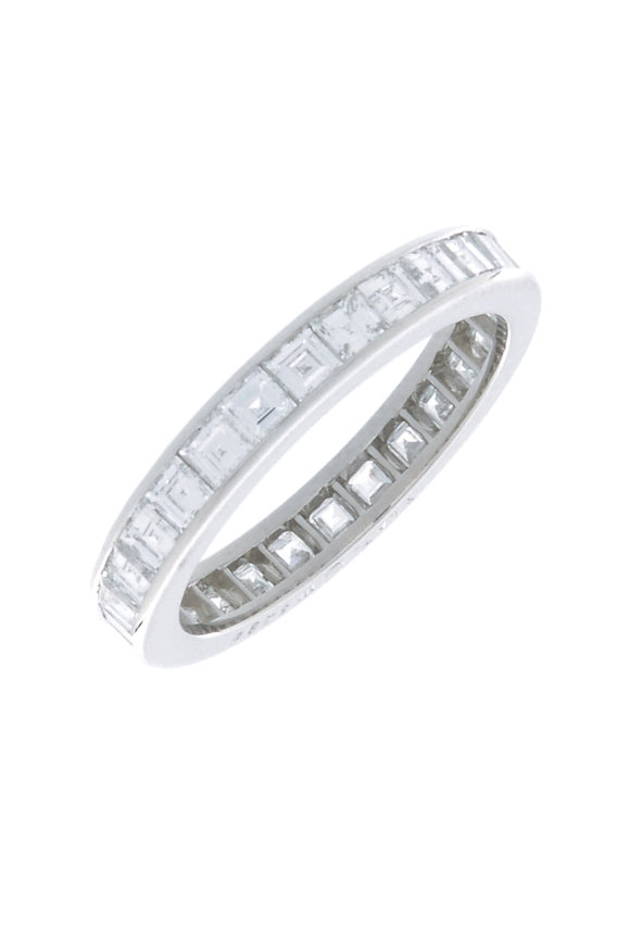 Oscar Heyman Platinum Square Diamond Guard Ring