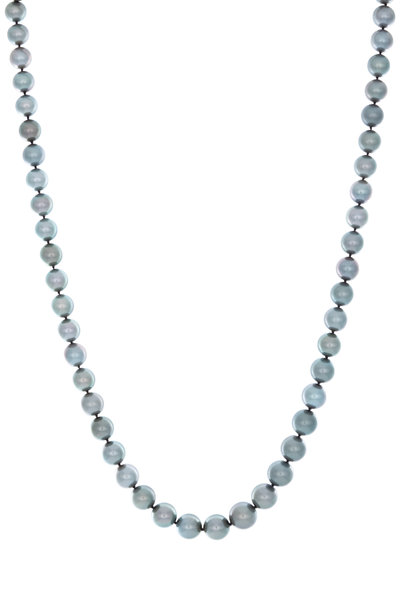 Assael - White Gold Tahitian Pearl Diamond Necklace
