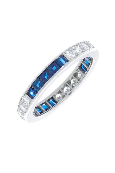 Oscar Heyman - Platinum Sapphire & Diamond Guard Ring