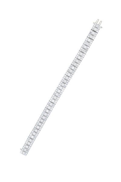 Oscar Heyman - Platinum Diamond Line Bracelet