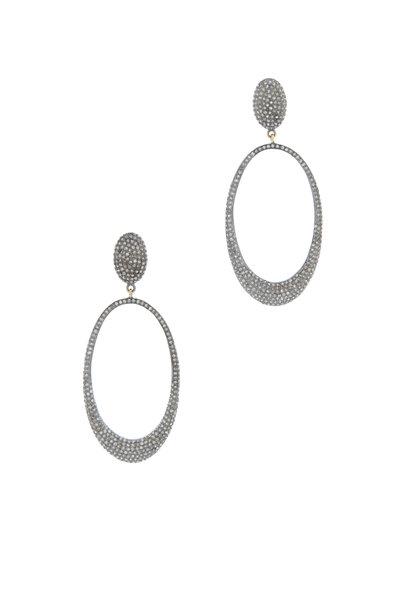 Loren Jewels - PAVE OPEN OVAL EARRING