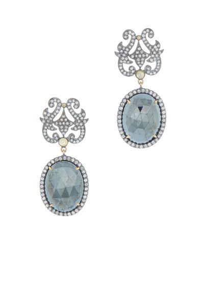 Loren Jewels - Gold & Silver Spinel & Diamond Drop Earrings