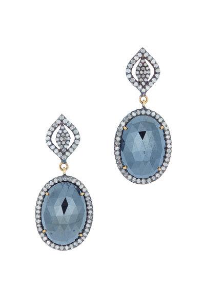 Loren Jewels - Gold & Silver Spinel Diamond Drop Earrings