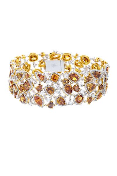 Kathleen Dughi - White Gold Fancy Yellow Diamond Bracelet