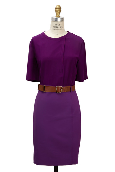 Akris - Purple Silk Dress