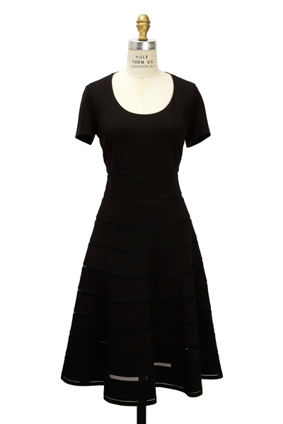 Escada - Black Jersey Dress