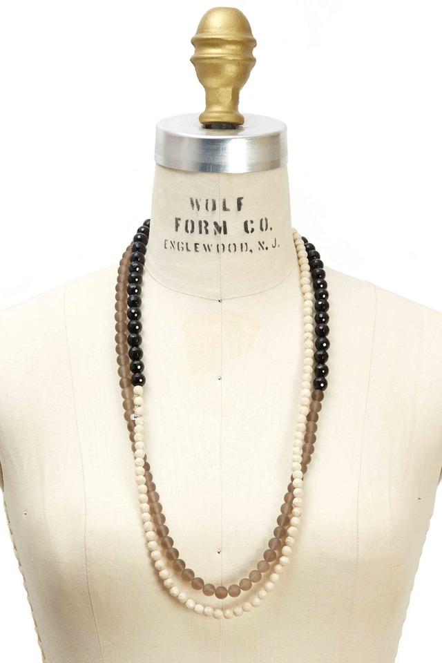 Smokey Sanded Necklace