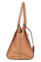 Alexander McQueen - Padlock Camel Leather Medium Satchel