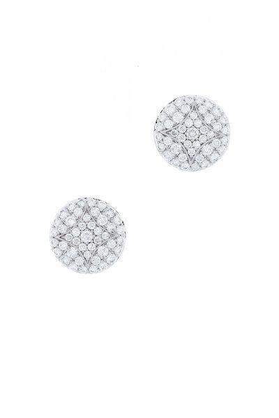 Jamie Wolf - Aladdin White Gold Diamond Small Stud Earrings