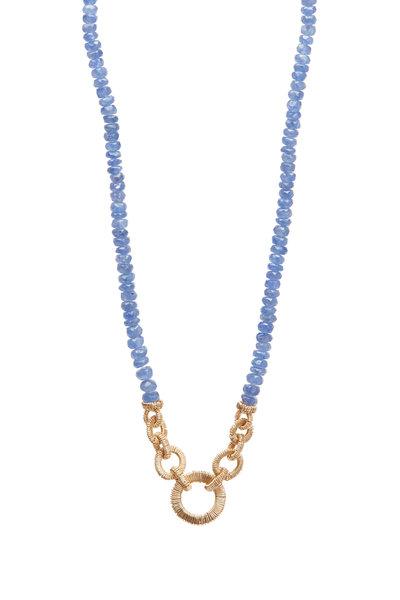 Dana Kellin - Gold Blue Sapphire Beaded Necklace