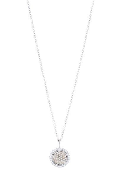 Jamie Wolf - White Gold Cognac & White Diamond Scallop Necklace