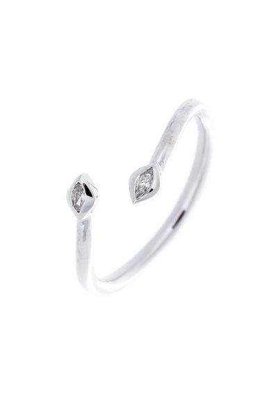 Jamie Wolf - White Gold White Diamond Arrow Cocktail Ring