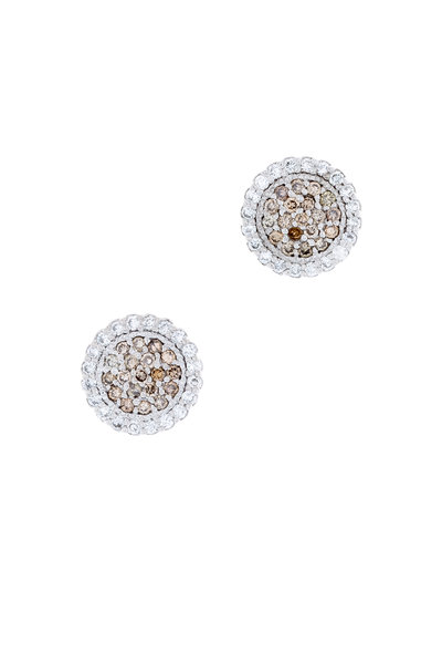 Jamie Wolf - White Gold Scallop Diamond Stud Earrings