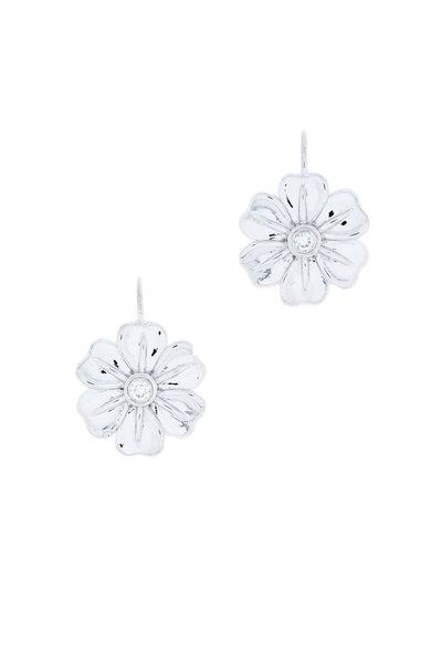 Jamie Wolf - White Gold Large White Lilac Diamond Earrings