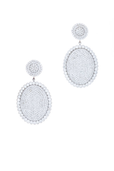 Jamie Wolf - Large Scallop Pave Earring