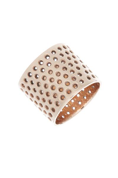 Tulah Jem - Rose Gold Plate Diamond Cylinder Ring