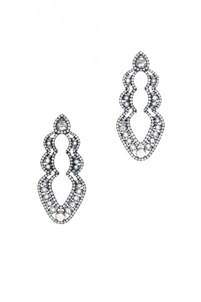 Sutra - 18K White Gold Diamond Earrings