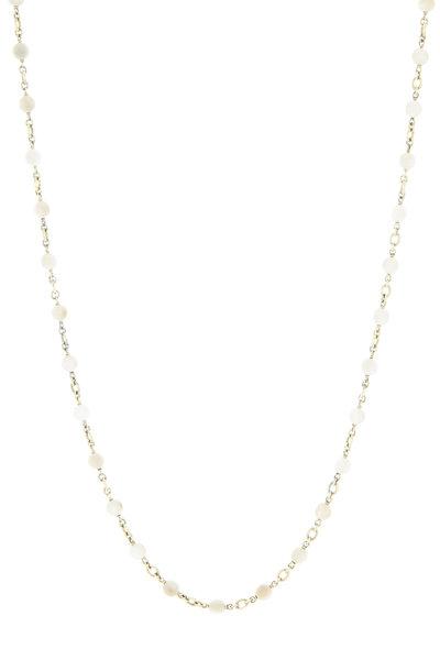 Sylva & Cie - Yellow Gold Mammoth Ivory Necklace