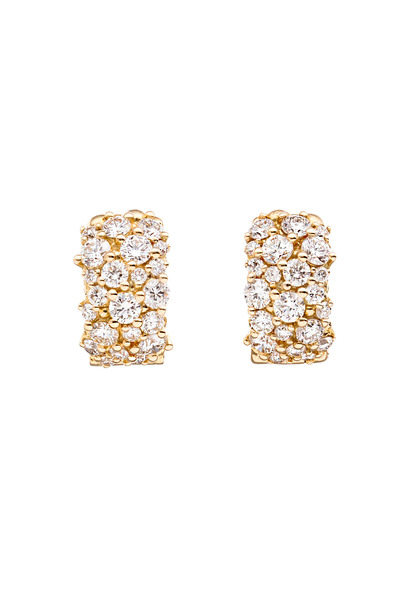 Paul Morelli - Confetti Gold & Diamond Snap Hoop Earrings
