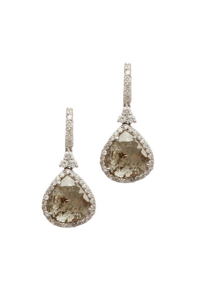 Loren Jewels - Gold Fancy Diamond Dangle Earrings