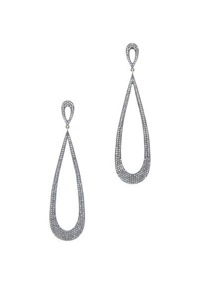 Loren Jewels - LONG OPEN TEARDROP EARRING