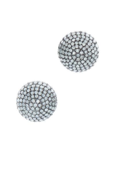 Loren Jewels - 18K Gold & Silver Champagne Diamond Ball Studs