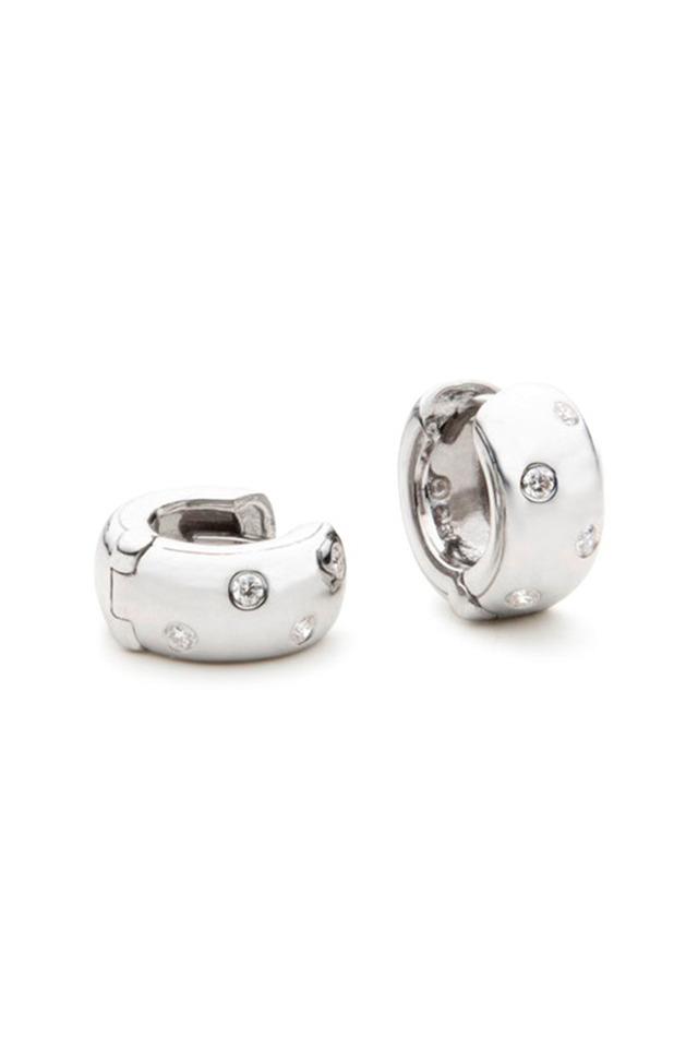 Mini Diamond Snap Hoop Earrings