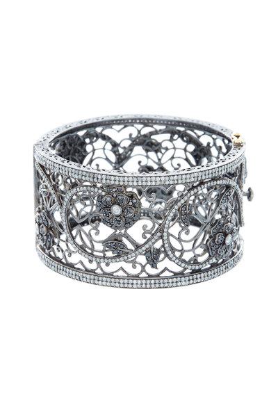 Loren Jewels - Gold Black Champagne Diamond Filigree Bracelet