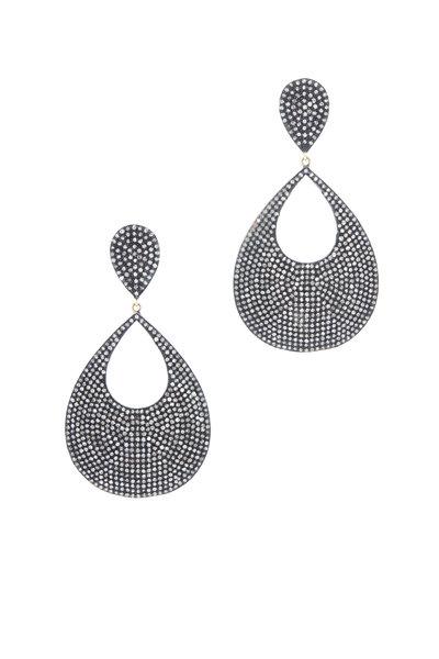 Loren Jewels - Gold & Silver Champagne Diamond Earrings