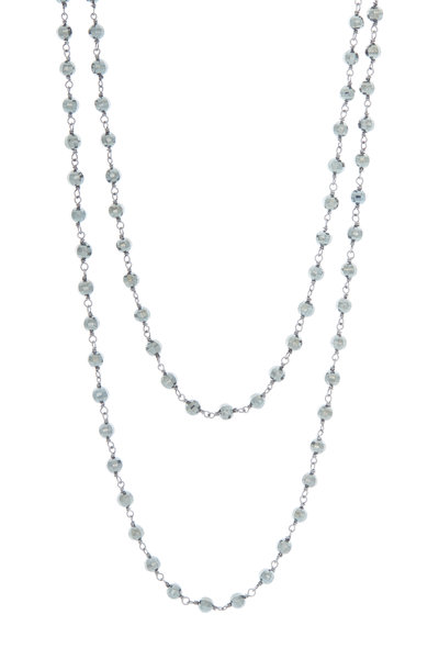 Loren Jewels - Sterling Silver Black Spinel Bead Necklace