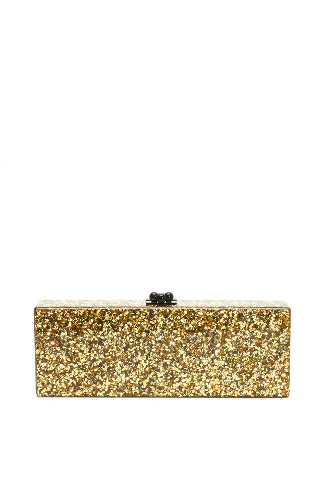 Gold Glitter Acrylic Rectangle Handbag