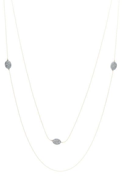 Tulah Jem - Yellow Gold Pavé-Set Diamond Ball Necklace