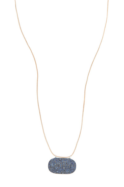 Tulah Jem - Yellow Gold Pavé-Set Blue Sapphire Necklace