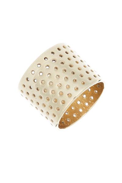 Tulah Jem - Yellow Gold Perforated Cigar Ring