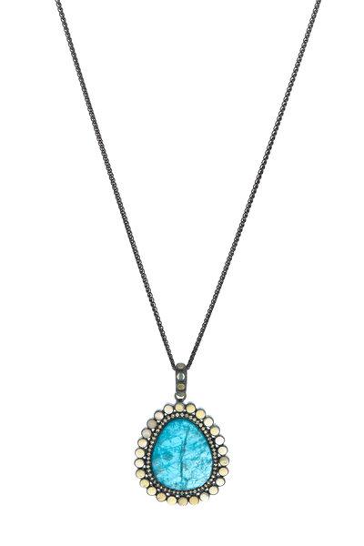Loriann - Gold Apatite Sapphire & Opal Necklace
