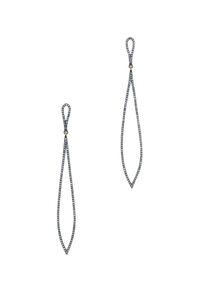 Loriann - Black & White Diamond Earrings