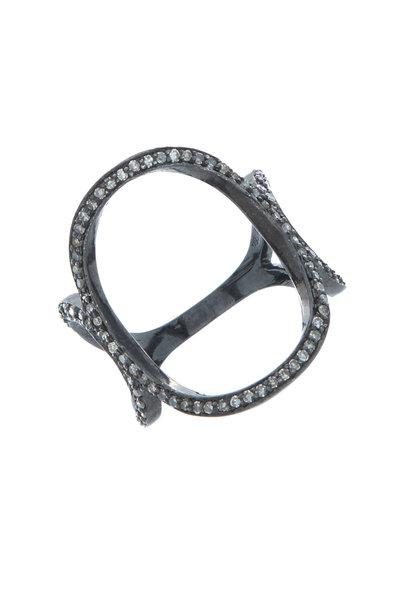 Loriann - Black & White Oval Ring