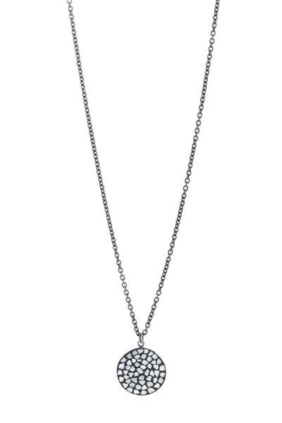 Loriann - 18K Gold & Silver Round Diamond Necklace