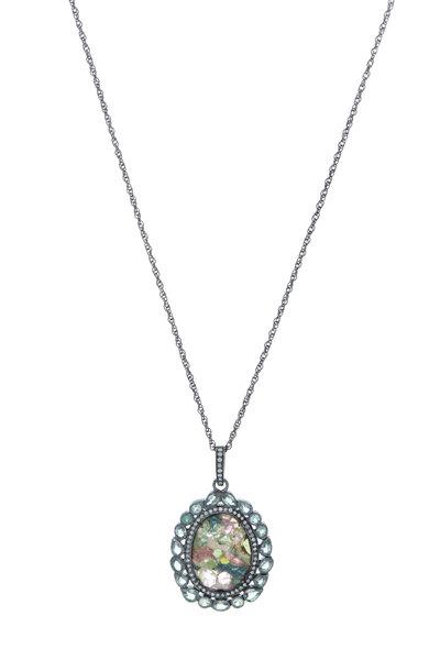 Loriann - Monets Garden Tourmaline Doublet Necklace