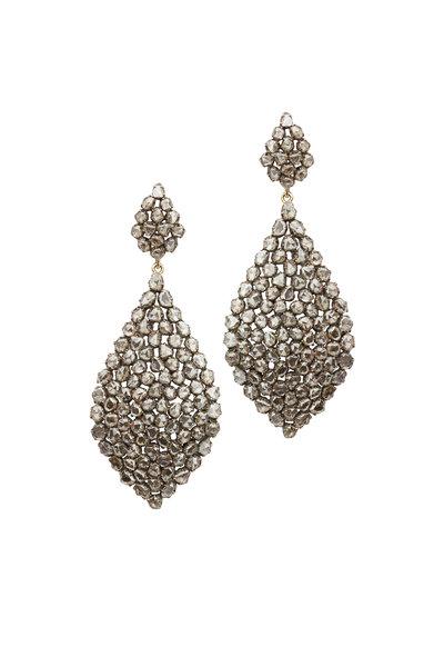 Loren Jewels - Yellow Gold & Sterling Silver Diamond Earrings