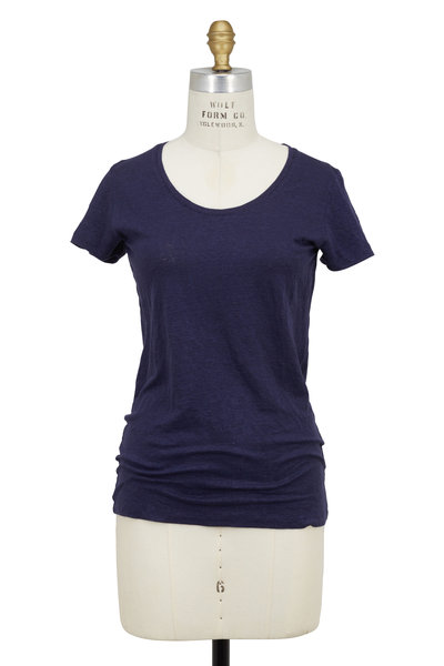 Majestic - Marine Stretch-Linen Short Sleeve T-Shirt