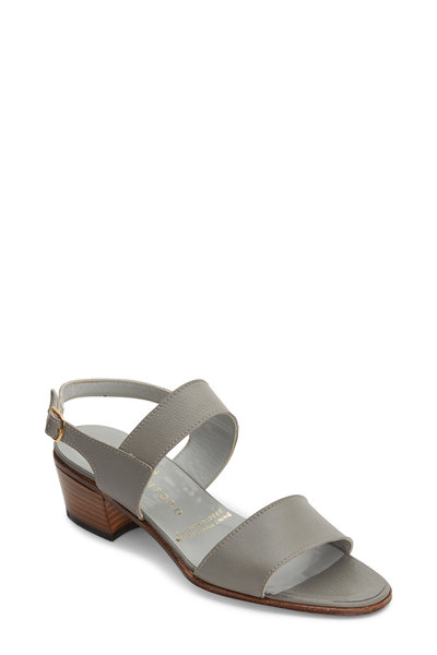 Gravati - Light Gray Leather City Sandal, 40mm