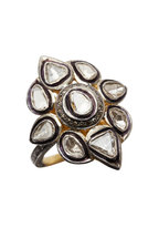 Loren Jewels - Gold & Silver Rose-Cut Diamond Ring