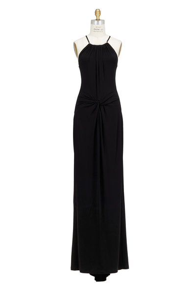 Michael Kors Collection - Black Jersey Halterneck Gown