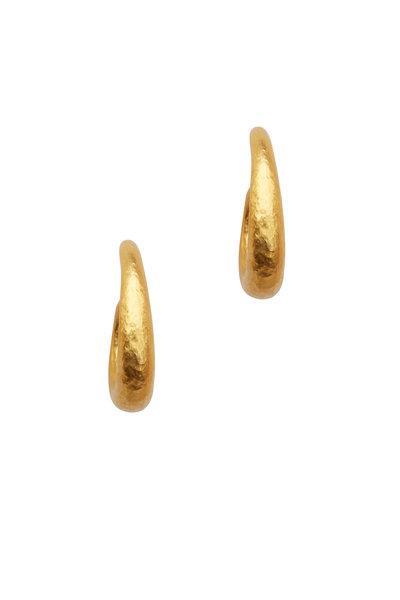 Yossi Harari - Roxanne Yellow Gold Hoop Earrings