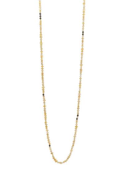 Yossi Harari - Yellow Gold Vera Opal Yellow Diamond Wrap Necklace