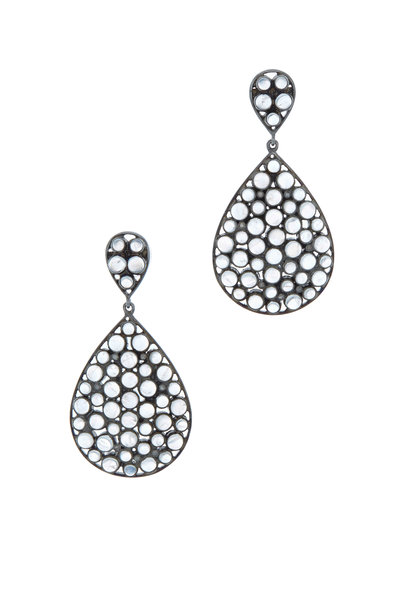 Loriann - Gold & Silver Teardrop Moonstone Earrings